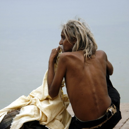 Sadhu in Varanasi, 2009 (photo by Nicolas Claisse)