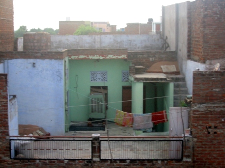 Old traditional house - view from the rooftopa