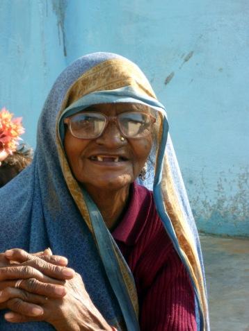 Old woman in a village near Khajuraho