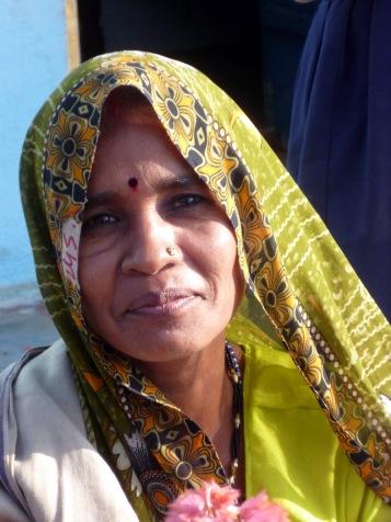 Married woman in a village near Khajuraho
