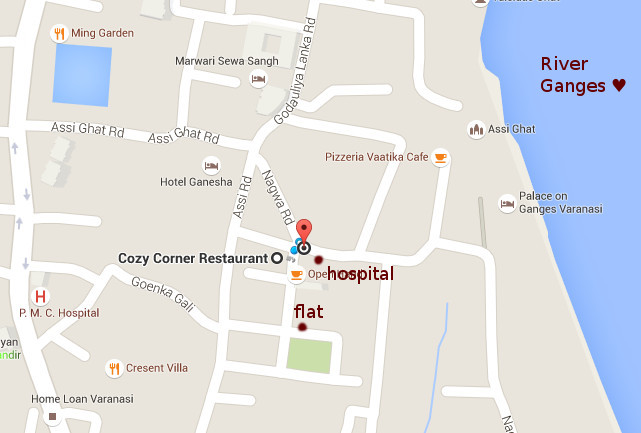 Delivery options: Distance from home to hospital in Varanasi